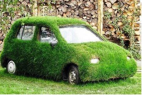 smaller green cars